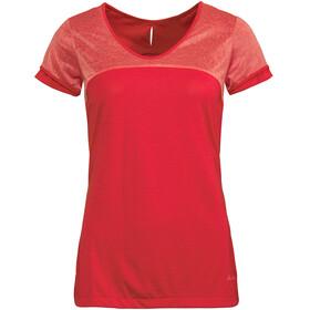 VAUDE Skomer II - Camiseta manga corta Mujer - rojo